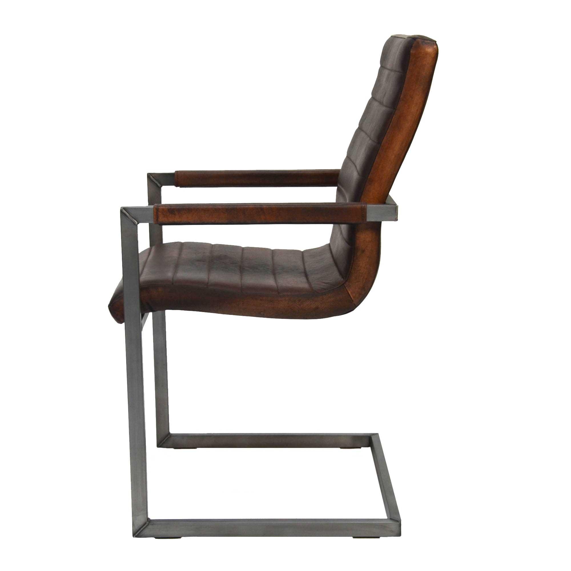Freischwinger Stühle Mit Armlehne freischwinger como aus echtem büffelleder livior