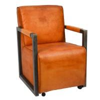 Lounge-Sessel-Armstrong-Clubsessel-cognac-amerikanisch-Bueffelleder-Industriedesign