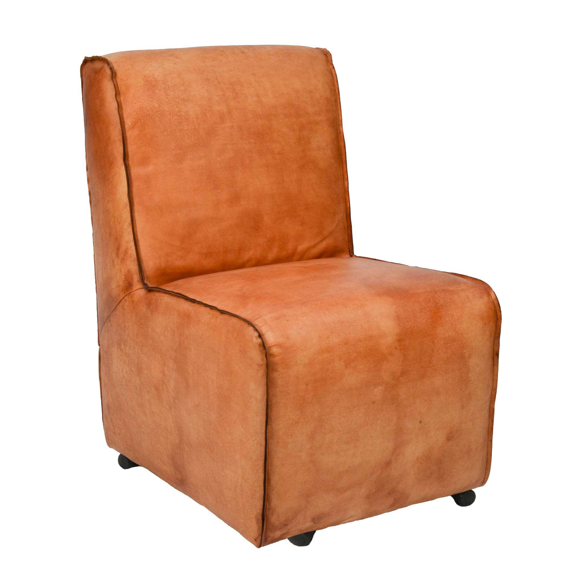 Lounge sessel braxton livior m bel im industrie design for Sessel auf rollen leder