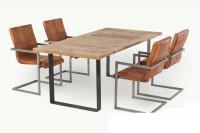 Massiver-Tisch-aus-Eiche--Arturo--mit-U-Foermige-Metallbeine