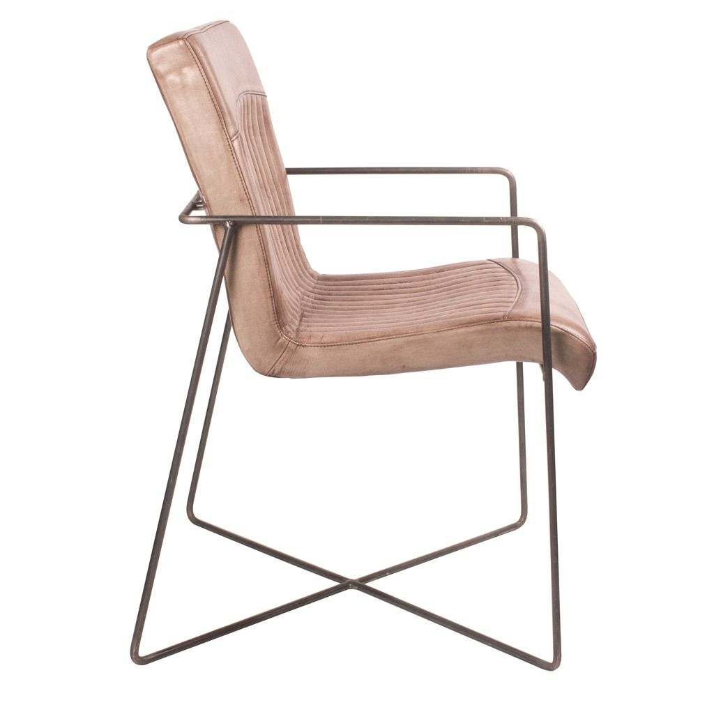 designstuhl fine line aus echtem b ffelleder livior. Black Bedroom Furniture Sets. Home Design Ideas