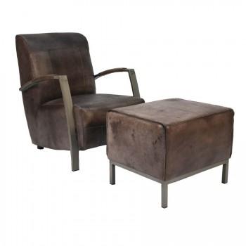 Sessel mit Hocker 3400