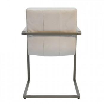 Freischwinger-Stuhl-Christy-weiß-Konferenzstuhl-echtes-Rindsleder