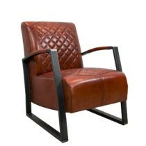 Lounge_Sessel_extravagant_Designklassiker__Metallgestell_Clubsessel_Club_Echt_Leder_Cognac_Mit_Lehne_interessante_Steppung_Design_Front_seite